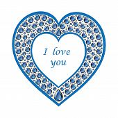 Heart Of Sapphire Vector Card