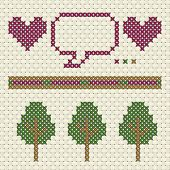 Patterns in cross stitch