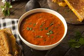 Homemade Tomato Soup With Grilled Cheese