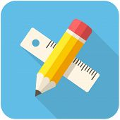 Pencil With Ruler Icon