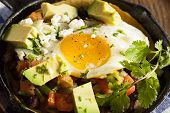 Homemade Heuvos Rancheros With Avocado