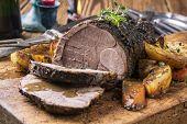 Lamb Roast on a Chopping Board