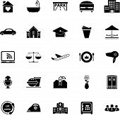Hospitality Business Icons On White Background
