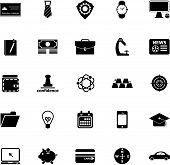 Businessman Item Icons On White Background