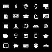 Businessman Item Icons On Gray Background