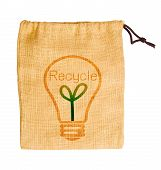 Empty Sack Bag With Recycle Concept.