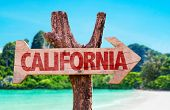 stock photo of bayou  - California wooden sign with beach background - JPG