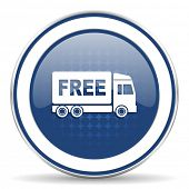 foto of free-trade  - free delivery icon transport sign  - JPG