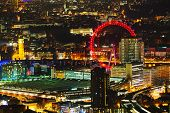 pic of london night  - Aerial overview of London city at the night time - JPG