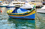 picture of maltese  - The traditional Maltese Luzzu boat at Malta - JPG