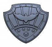 foto of iron star  - Illustration of the iron sign with eagle on shield - JPG