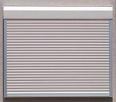 foto of roller door  - White metal roller window shutter background and texture - JPG