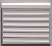 stock photo of roller shutter door  - White metal roller window shutter background and texture - JPG