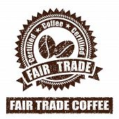 picture of trade  - A set of Fair Trade Coffee Rubber Stamp - JPG