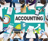 foto of revenue  - Accounting Investment Expenditures Revenue Data Report Concept - JPG