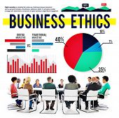 picture of morals  - Business Ethics Moral Policies Awareness Marketing Concept - JPG