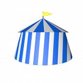 stock photo of circus tent  - Circus tent isolated over white 3d render square image - JPG