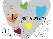 picture of i love you mom  - A greeting card full of hearts with the phrase  - JPG