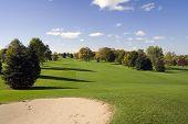 Bunker And Golf Fairway