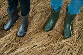 picture of wet feet  - Rubber boots - JPG