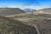 picture of volcanic  - wild volcanic landscape at Lanzarote Island Canary Islands Spain - JPG