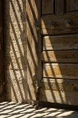 pic of niche  - shadow and light in a window niche in the historical Eski mosque in Edirne - JPG
