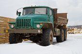foto of truck farm  - Old soviet truck  - JPG