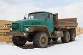 image of truck farm  - Old soviet truck  - JPG