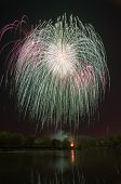 picture of victory  - Beautiful firework in Bauman town on the coast of Silver - JPG