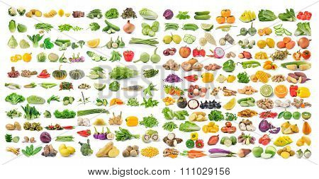 Set Of Vegetable And Fruit