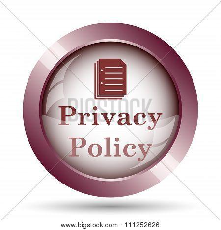 Постер, плакат: Privacy Policy Icon, холст на подрамнике