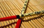 Chopsticks On Bamboo