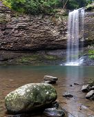 Постер, плакат: Cherokee Falls At Cloudland Canyon State Park In Georgia