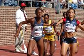 Women Run In Relay Race