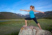 Yoga in the mountians
