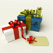 3D Presents For Christmas Or Birthday