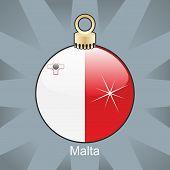 european flag in christmas bulb shape