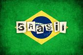 Постер, плакат: Brasil Grunge Flag Illustration Of Country With Text
