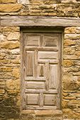 Weathered Wooden Door
