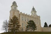 Manti Lds Mormon Temple In Winter