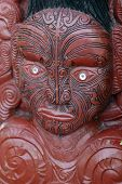 picture of mauri  - traditional mauri carving in rotorua new zealand - JPG