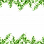 Постер, плакат: Бесшовные Рождественская елка ветви фон