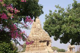picture of kandariya mahadeva temple  - Exterior decorations of the Kandariya Mahadeva Temple at Khajuraho in India Asia - JPG