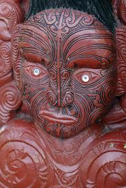 pic of mauri  - traditional mauri carving in rotorua new zealand - JPG