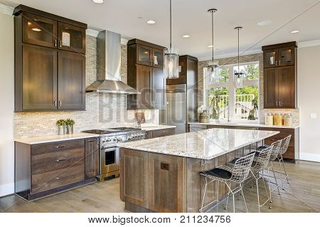 poster of Luxury Kitchen In A New Construction Home