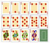 Playing cards diamonds