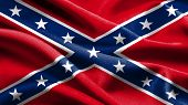stock photo of civil war flags  - The Rebel flag waving in the wind - JPG