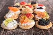 assorted canape,finger food poster