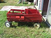 Children's Red Cart Wagon