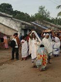 Tribal Priestess Arrives In A Small Village To Perform Puja Ceremonies